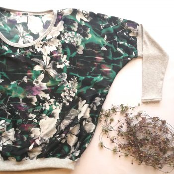 Green Floral Floaty Tee